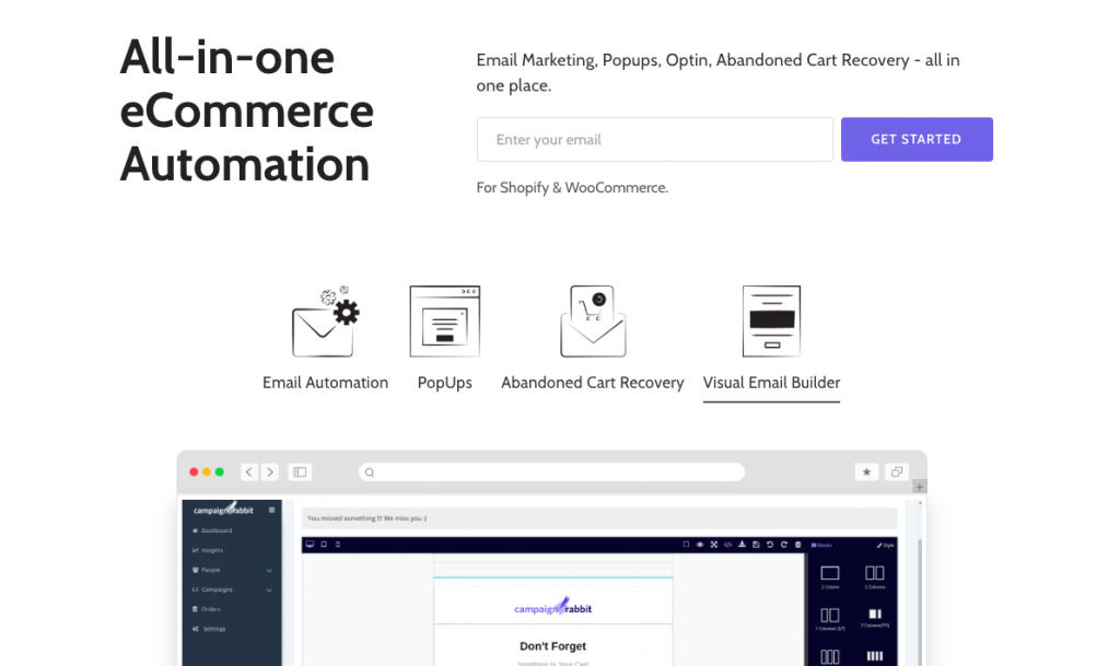 CampaignRabbit - eCommerce Abandoned Cart Recovery and Marketing Automation Tool